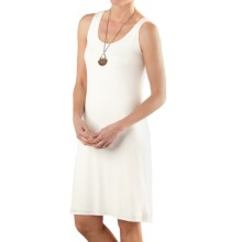 TravelSmith Knit Tank Dress - Rayon, Fully Lined (For Women) in Ivory - Closeouts