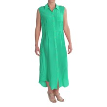 TravelSmith Shirttail Maxi Dress - Silk, Sleeveless (For Women) in Sea Green - Closeouts