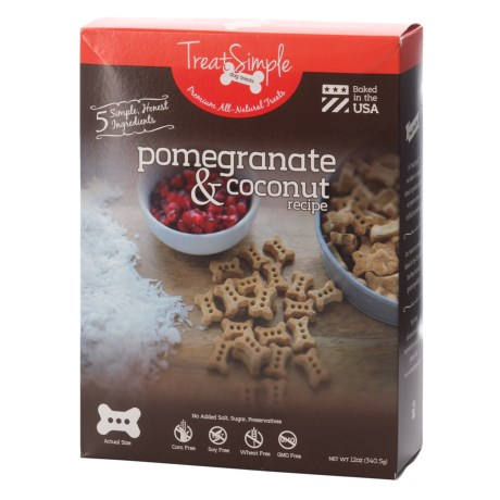 Treat Simple Pomegranate and Coconut Oil Recipe Dog Treats - 12 oz. in Pomegranate & Coconut