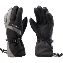 Trekmates Nevis Gloves - Waterproof, Insulated (For Men and Women) in Black/Charcoal - Closeouts