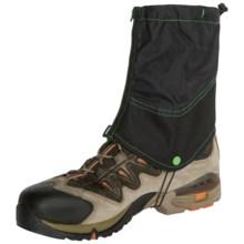 Trekmates® Pioneer Gaiters - Waterproof (For Men) in Black/Green - Closeouts