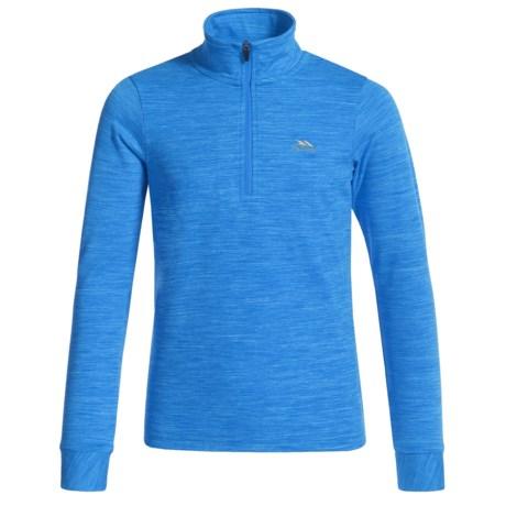 Trespass Abra Shirt - Zip Neck, Long Sleeve (For Little and Big Kids) in Blue