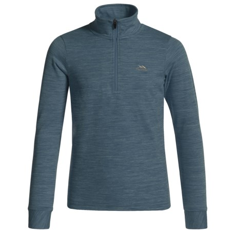 Trespass Abra Shirt - Zip Neck, Long Sleeve (For Little and Big Kids) in Navy