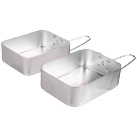 Trespass Aluminum Mess Tins - Set of 2 in See Photo - Closeouts