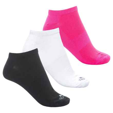 Trespass Barricade Trainer Socks - 3-Pack, Below the Ankle (For Women) in White/Pink Glow/Black - Overstock