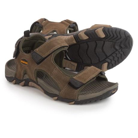 Trespass Belay Sport Sandals - Suede (For Men) in Dark Sand