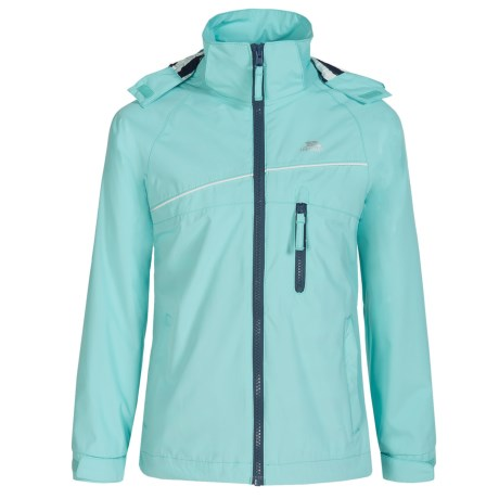 Trespass Bessie Rain Jacket - Waterproof, Windproof (For Little and Big Girls) in Tropical