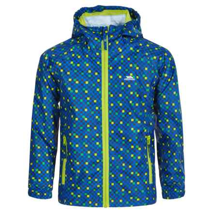 Trespass Callan Rain Jacket - Waterproof (For Little and Big Boys) in Electric Blue - Closeouts