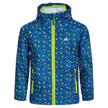 Trespass Callan Rain Jacket - Waterproof (For Little and Big Boys) in Electric Blue