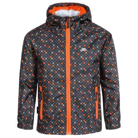 Trespass Callan Rain Jacket - Waterproof (For Little and Big Boys) in Flint - Closeouts