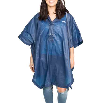Trespass Canopy Packaway Poncho in Navy Blue - Closeouts