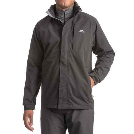 Trespass Census Rain Jacket - Waterproof (For Men) in Black - Closeouts
