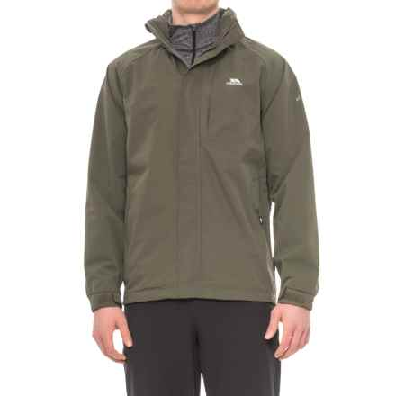 Trespass Census Rain Jacket - Waterproof (For Men) in Khaki - Closeouts