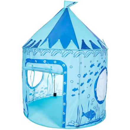 Trespass Chateau Kids Pop-Up Play Tent - UPF 50 in Aquatic - Closeouts