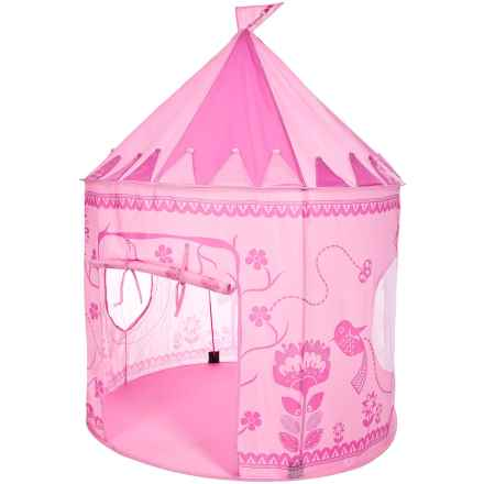 Trespass Chateau Kids Pop-Up Play Tent - UPF 50 in Pink - Closeouts
