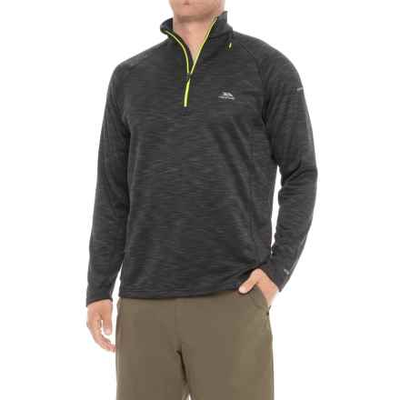 Trespass Collins AT200 Fleece Shirt - Zip Neck, Long Sleeve (For Men) in Black Marl - Closeouts
