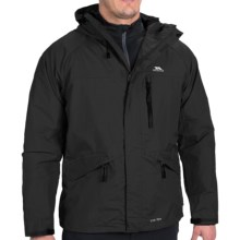 Trespass Corvo Jacket - Waterproof (For Men) in Black - Closeouts