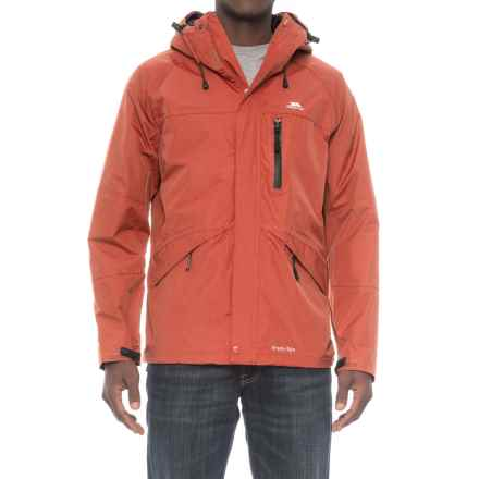 Trespass Corvo Rain Jacket - Waterproof (For Men) in Burnt Orange - Closeouts