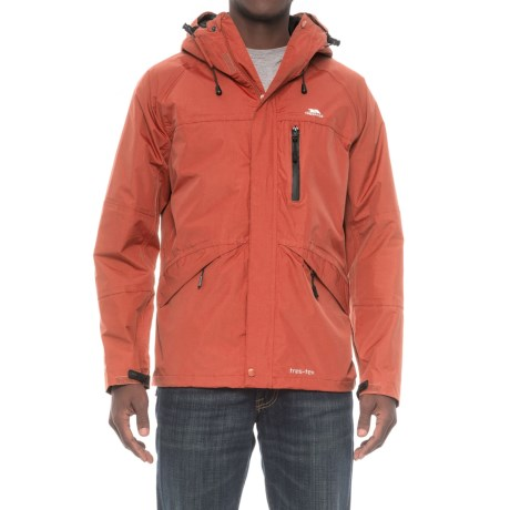 Trespass Corvo Rain Jacket - Waterproof (For Men) in Burnt Orange