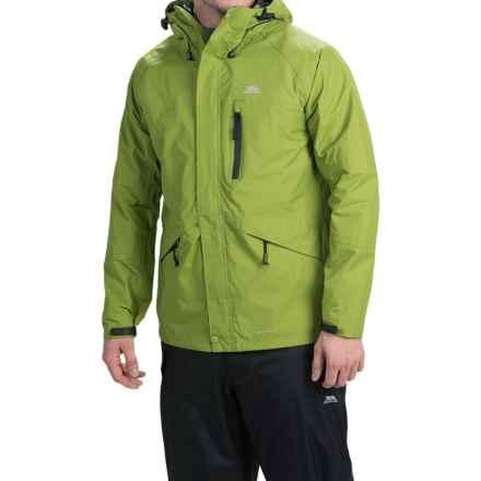 Trespass Corvo Rain Jacket - Waterproof (For Men) in Cactus - Closeouts