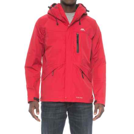 Trespass Corvo Rain Jacket - Waterproof (For Men) in Red - Closeouts