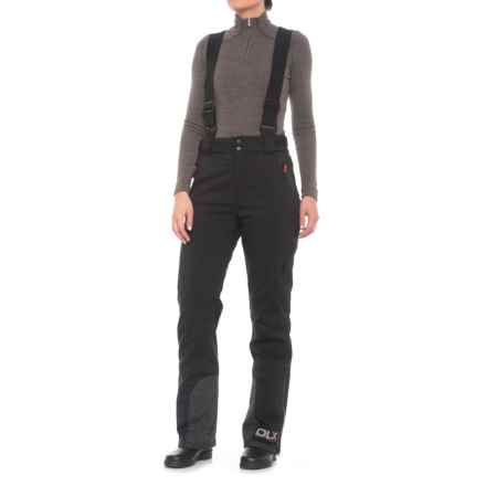 Trespass Criteria DLX Ski Pants - Waterproof, Insulated (For Women) in Black/Diva Pink - Closeouts