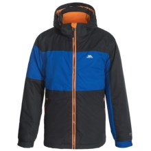 Trespass Damien Ski Jacket - Waterproof, Insulated (For Little Boys) in Black/Electric Blue - Closeouts