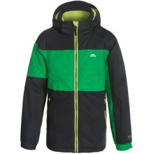 Trespass Damien Ski Jacket - Waterproof, Insulated (For Little Boys) in Clover/Black - Closeouts