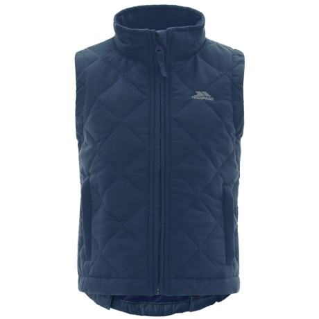 Trespass Elam Gilet Vest - Insulated (For Little and Big Kids) in Navy Blue