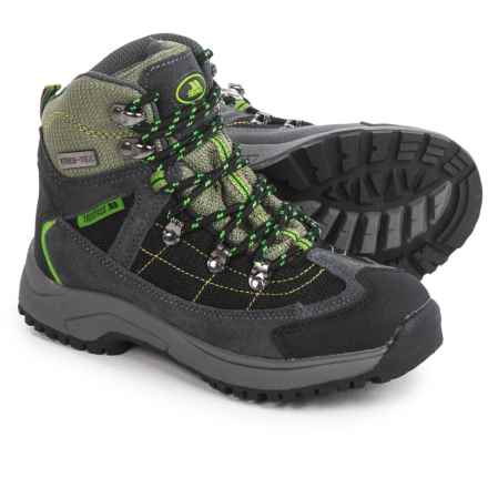 Trespass Elf Hiking Boots - Waterproof (For Little Boys) in Herb Grey/Green - Closeouts
