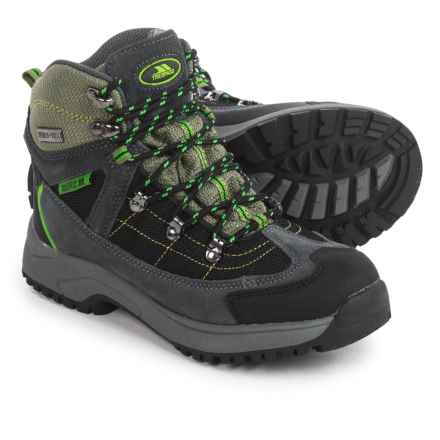 Trespass Elf Hiking Boots - Waterproof (For Youth Boys) in Herb Grey/Green - Closeouts
