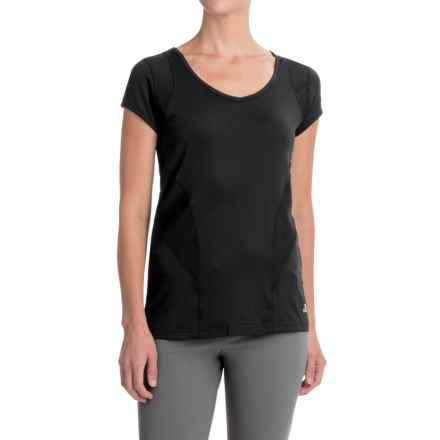 Trespass Erlin Quick Dry Stretch Shirt - Scoop Neck, Short Sleeve (For Women) in Black - Closeouts