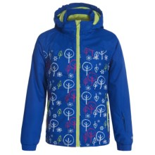 Trespass Firefly Ski Jacket - Waterproof, Insulated (For Little Girls) in Electric Blue - Closeouts