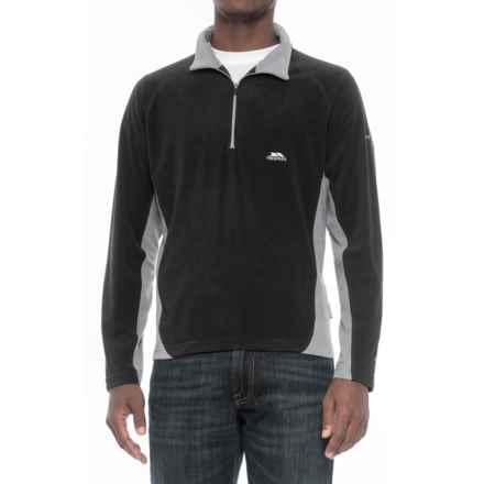 Trespass Fleece Jacket - Zip Neck (For Men) in Black - Closeouts