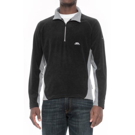 Trespass Fleece Jacket - Zip Neck (For Men) in Black
