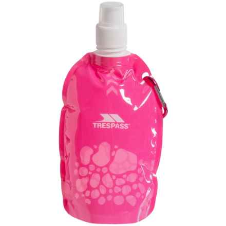 Trespass Foldable Water Bottle - 350ml in Pink - Closeouts