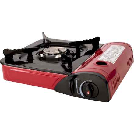 Trespass Gastro Gas Portable Camping Stove in Red - Closeouts