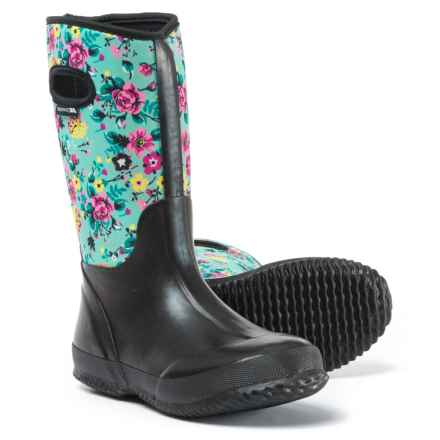 Trespass Geraldine Floral Print Rain Boots (For Women) in Peppermint Floral Print - Closeouts