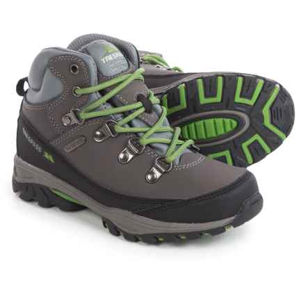 Trespass Glebe Technical Hiking Boots - Waterproof (For Little Kids) in Grey - Closeouts