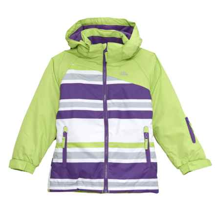 Trespass Golda Ski Jacket - Waterproof, Insulated (For Little and Big Girls) in Kiwi - Closeouts