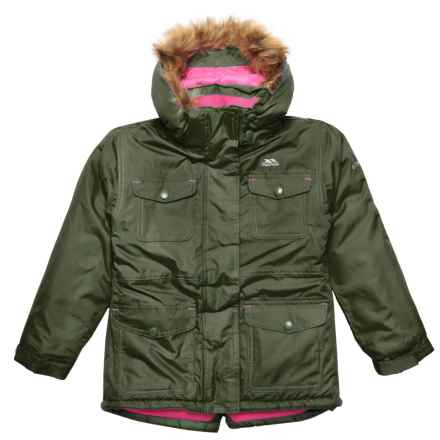 Trespass Greer Jacket - Waterproof, Insulated (For Little and Big Girls) in Thyme - Closeouts
