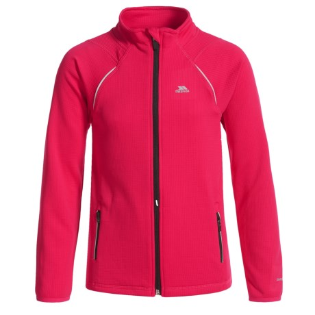 Trespass Harbird Shirt - Full Zip, Long Sleeve (For Little and Big Kids) in Raspberry