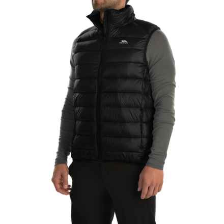Trespass Hasty Gilet Down Vest - 500 Fill Power (For Men) in Black - Closeouts