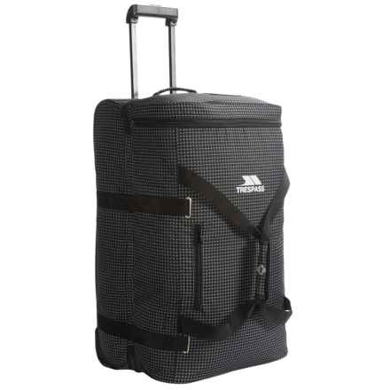 Trespass Holibag Rolling Suitcase - 85L in Black/Gray - Closeouts