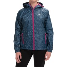 Trespass Indulge Rain Jacket - Waterproof (For Women) in Airforce Blue Print - Closeouts