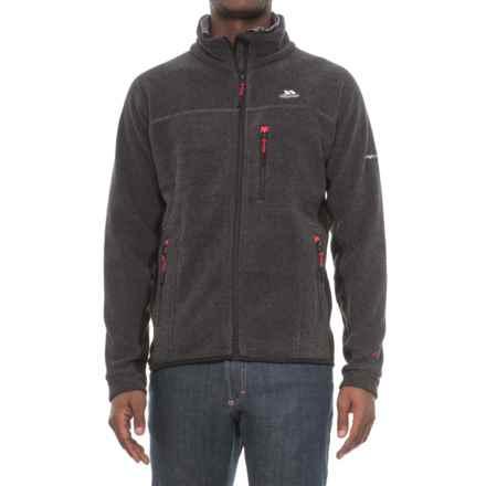 Trespass Jynx Fleece Jacket - Full Zip (For Men) in Black - Closeouts