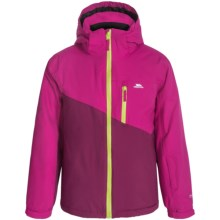Trespass Keelan Ski Girls Jacket - Waterproof, Insulated (For Little Girls) in Azalea - Closeouts