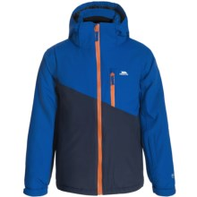 Trespass Keelan Ski Jacket - Waterproof, Insulated (For Little Boys) in Navy/Carrot - Closeouts