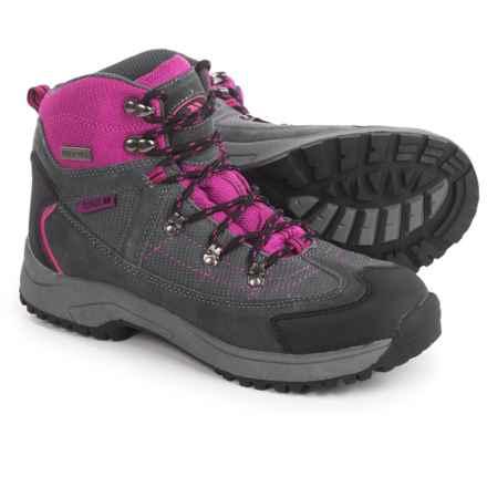 Trespass Laurel Hiking Boots - Waterproof (For Big Girls) in Purple/Grey - Closeouts
