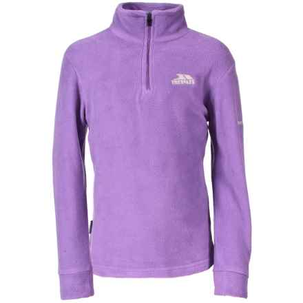 Trespass Louviers Fleece Jacket - Zip Neck (For Little and Big Girls) in Viola - Closeouts